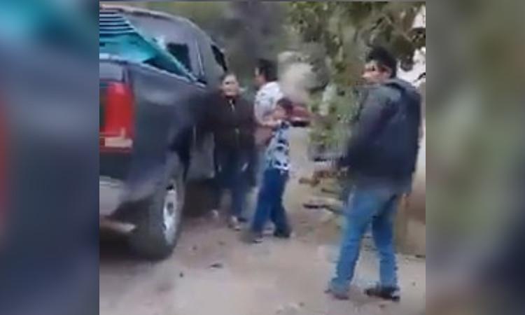 Niño capta secuestro de su madre en video