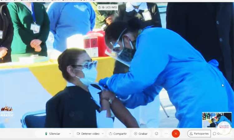 segunda persona vacunada contra covid en México