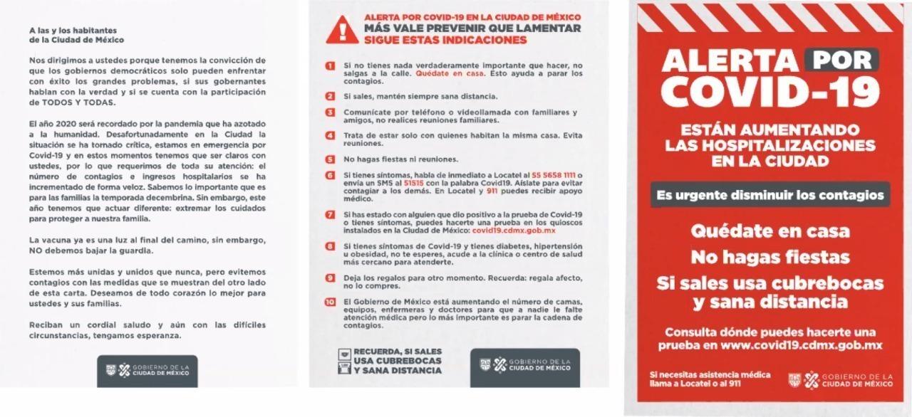 El Gobierno de la CDMX hace un exhorto a la ciudadanía para que permanezca en casa debido al alza en las hospitalizaciones por COVID-19. Dio 10 indicaciones