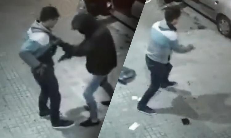 Video: intentan robarlo, pero resultó ser policía
