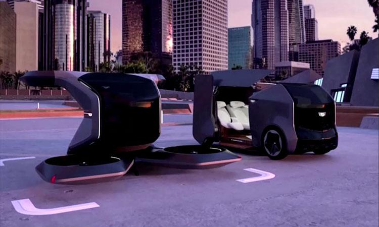General Motors presentó su auto Cadillac volador futurista