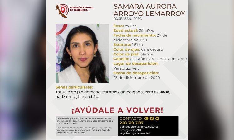 Samara Arroyo: Buscan a nutrióloga desaparecida por tierra, aire y agua