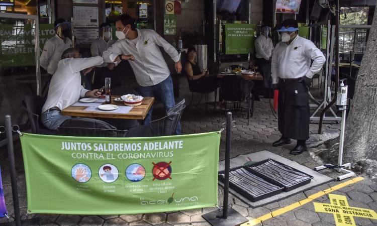CDMX y Edomex siguen en semáforo rojo; abren restaurantes al aire libre