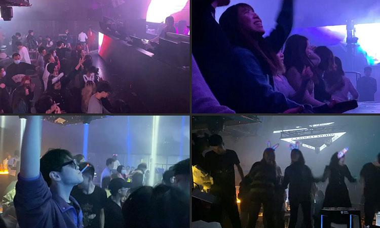 Sin sana distancia ni cubrebocas, así se divierten en discotecas de Wuhan