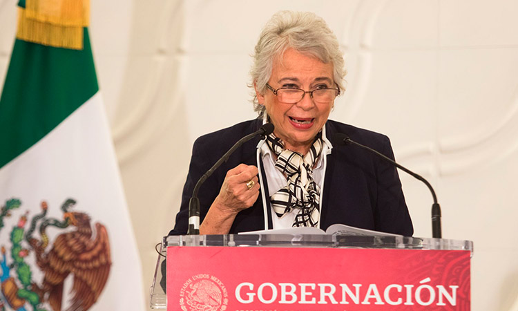 Olga Sánchez Cordero, titular de Segob, pide paciencia para vacunarse contra COVID