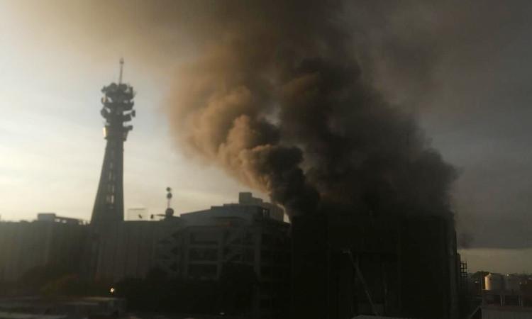 Así comenzó el incendio en centro de control del Metro en la CDMX