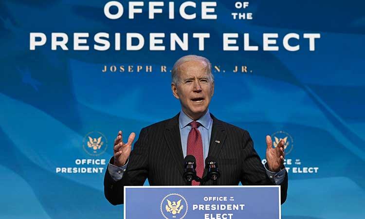 La ceremonia de Joe Biden se realizará en un clima de extrema tensión. Foto: AFP