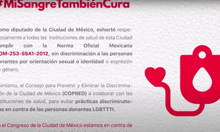 Discriminación donar sangre