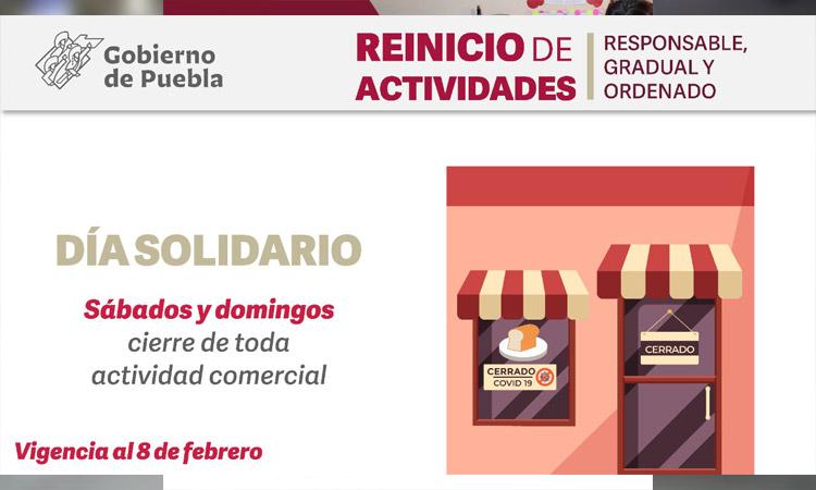 COVID-19 en Puebla; ve medidas hasta el 8 de febrero 2021