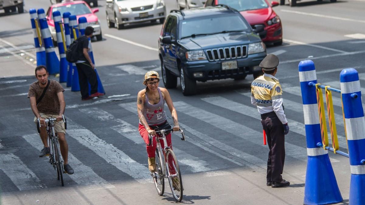 En CDMX, endurecen Reglamento de tránsito para proteger a ciclistas