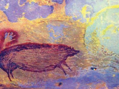 Descubren pintura rupestre más antigua del mundo