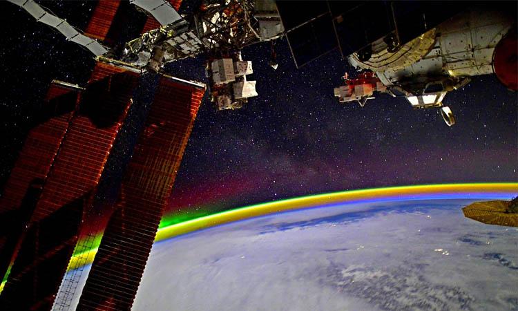 arcoíris en el espacio