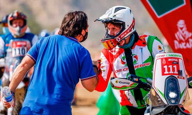 Muere Pierre Cherpin, piloto frances que cayó en el Dakar 2021