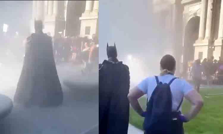 ¿Batman estuvo en las protestas del capitolio?