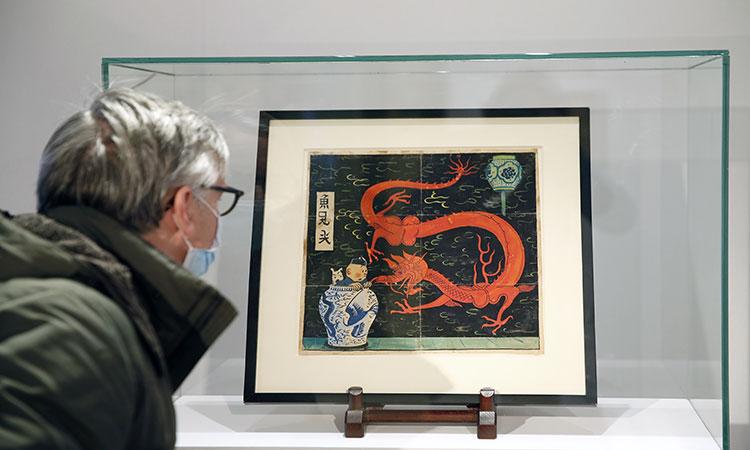 Dibujo de Tintín es subastador por 3.8 millones de dólares en París