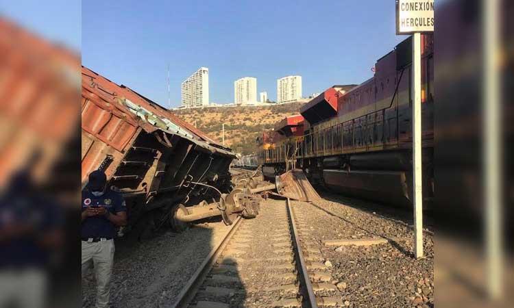 En Querétaro hubo descarrilamiento de vagones de tren; sin lesionados