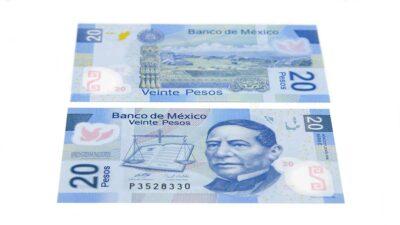 Billete de 20 pesos mexicanos se vende hasta en 48 mil en internet