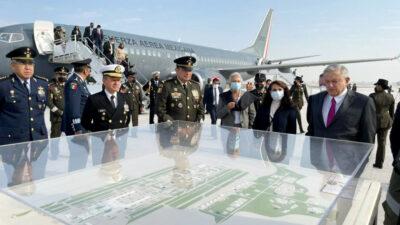 AMLO inaugura instalaciones del Aeropuerto Felipe Ángeles; así aterrizó primer avión