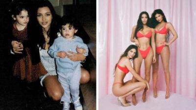 Kim Kardashian comparte foto del antes y después de Kendall y Kylie