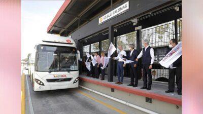 2 millones de beneficiados con línea IV de Mexibus: Del Mazo