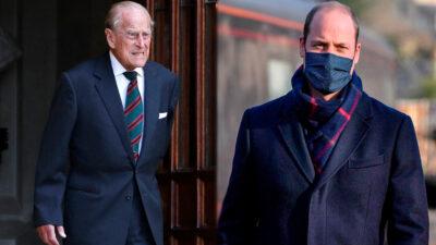 """Príncipe Guillermo dice que el duque de Edimburgo está """"OK"""""""