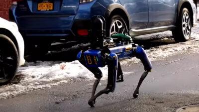 Perro robot vigila las calles de NY como policía