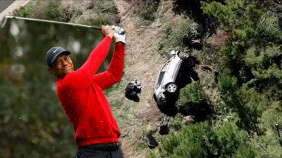 Tiger Woods sufre accidente y es hospitalizado