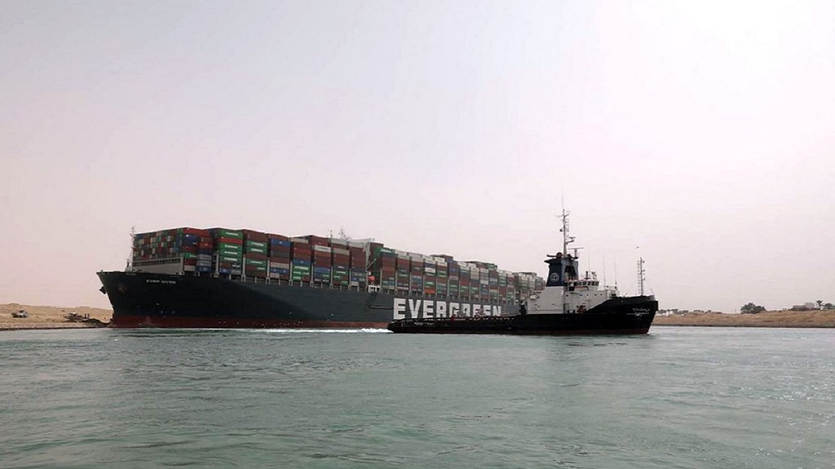 Buque encallado Canal de Suez