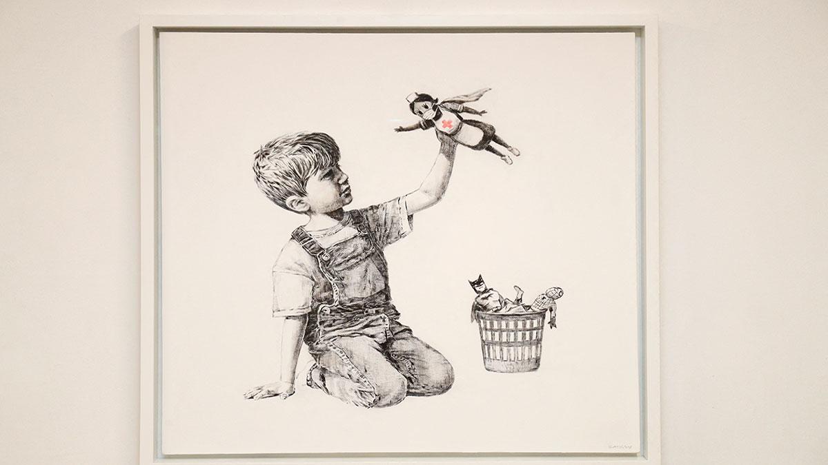Subastan obra de Banksy por 4 millones de dólares; será para ayudar a personal médico