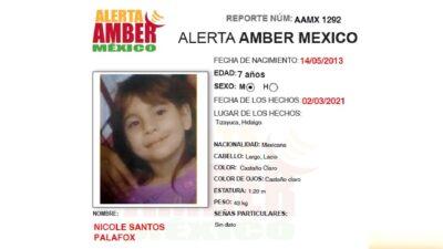 Caso Nicole Santos Palafox: cae sujeto sospechoso en su desaparición