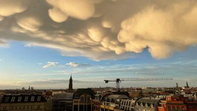 Nubes mammatus sorprenden en Alemania