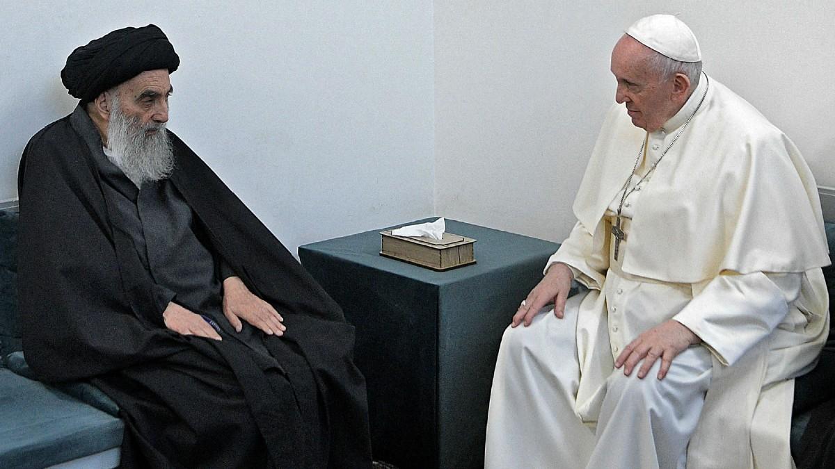 Papa Francisco y el gran ayatolá Sistani se encuentran en Irak