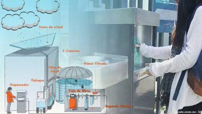 """""""Jugo de nube"""", el innovador proyecto de la UNAM que cosecha agua de lluvia"""