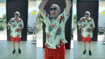 Anthony Hopkins baila al ritmo de Elvis Crespo