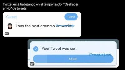 función para deshacer tuits