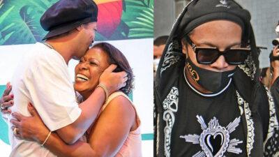 Ronaldinho alcoholizado tras la muerte de su madre