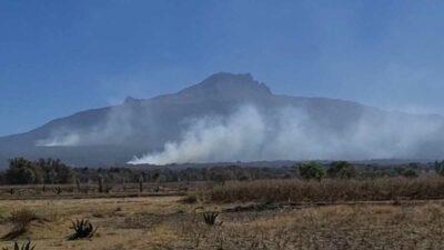Tlaxcala registra incendio en volcán La Malinche