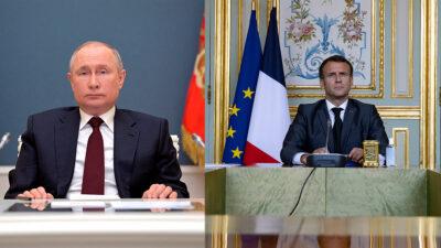 Vladimir Putin interrumpe discurso de Emmanuel Macron por fallas técnicas