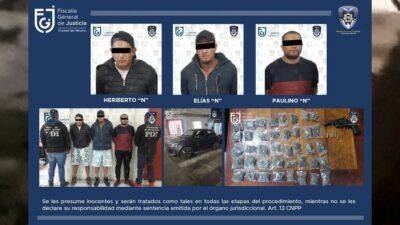 """En CDMX, detienen a tres presuntos miembros de los """"Rodolfos"""""""