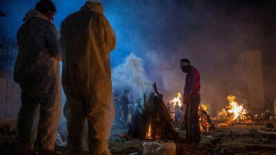 Cremaciones Masivas India Dron Covid
