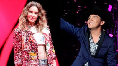Belinda y Christian Nodal alistan dueto; comparten adelanto
