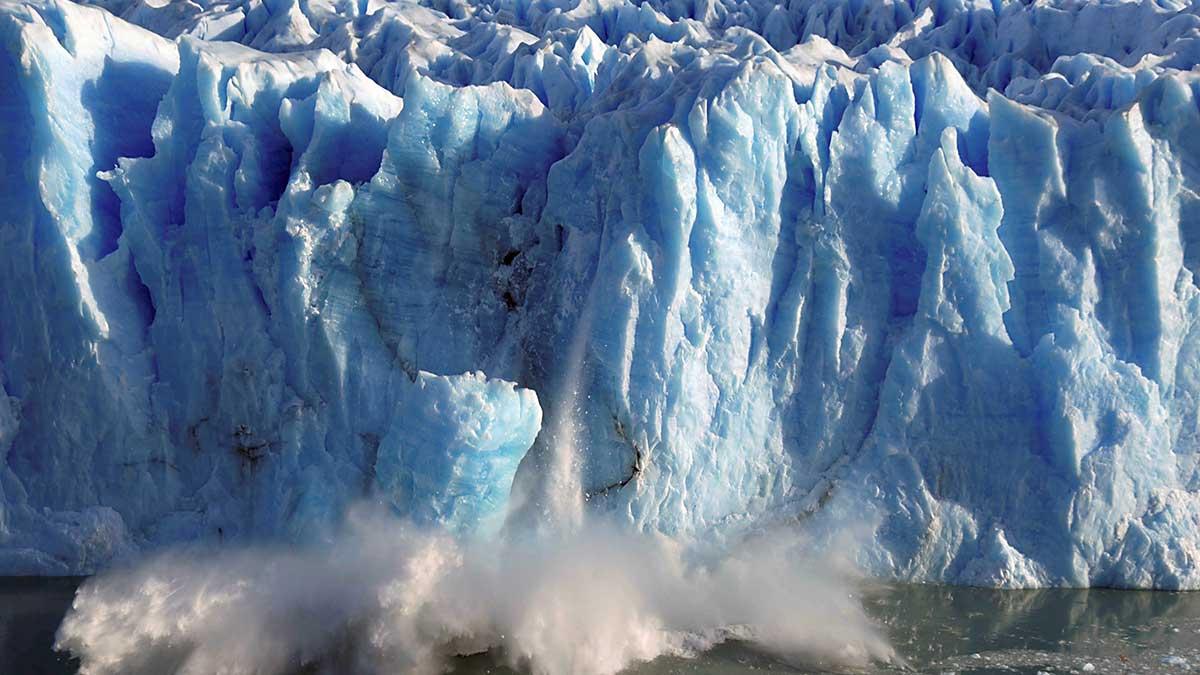desprendimiento de glaciar