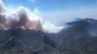 Incendio de Guadalcázar se acerca a comunidades en San Luis Potosí
