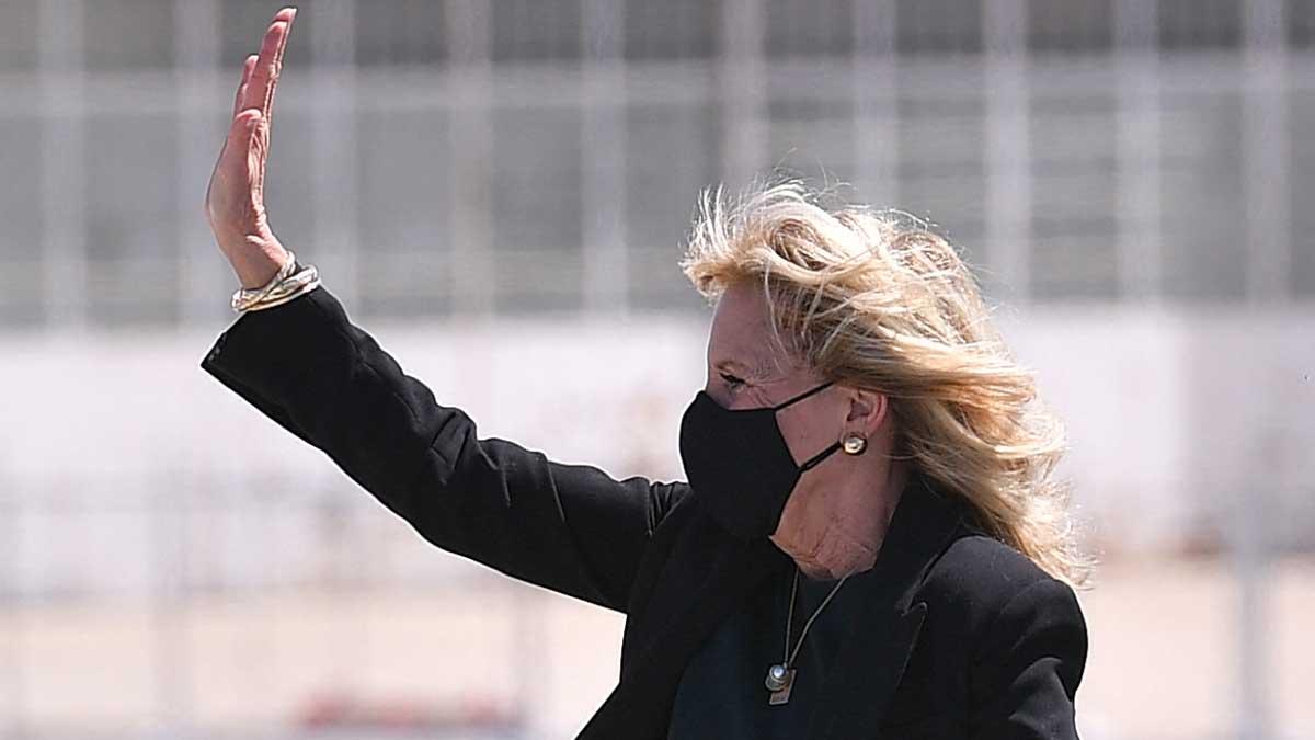 Jill Biden, primera dama de EU. Foto: AFP