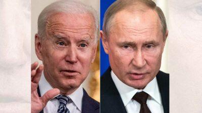 Joe Biden prometió ser más firme que Donald Trump, acusado de complacencia hacia Rusia. Foto: AFP