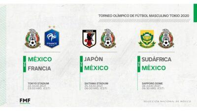 Mexico Tokyo Partidos Horarios