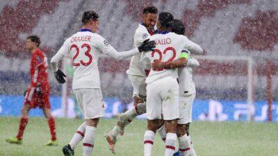 PSG celebra la victoria ante el Bayer Munich