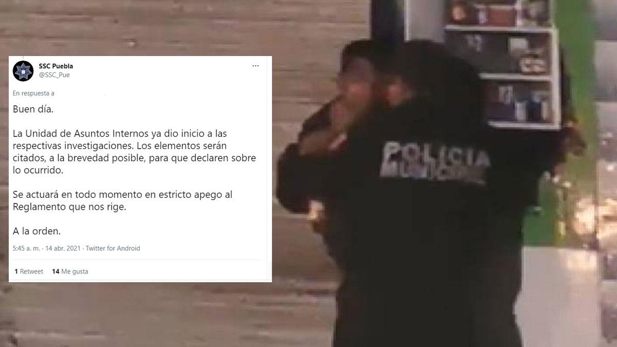 Puebla: policía cachetea y ahorca a ciudadano en la calle; ve video - Uno TV