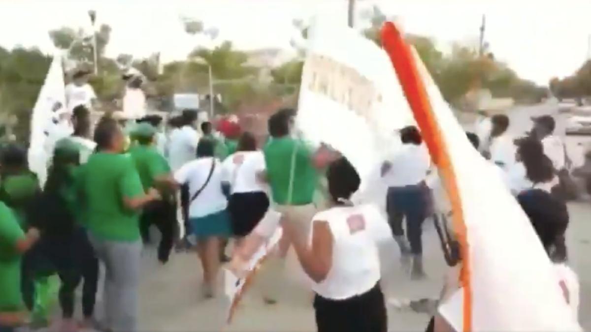 Puerto Vallarta: simpatizantes del PVEM y MC arman campal
