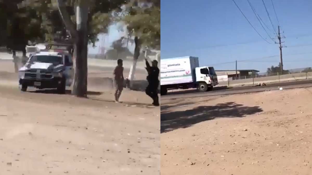 En Sinaloa, un hombre es atropellado tras ser perseguido por policía